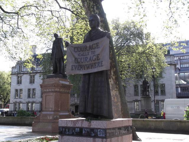 Fawcett and Disraeli, Parliament Square