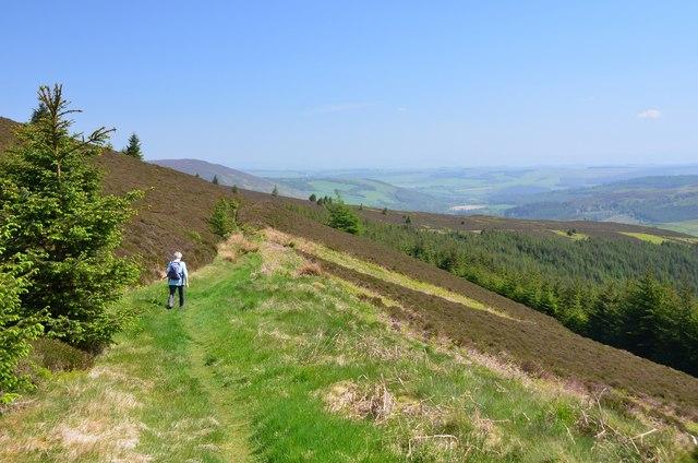 Descending the Minchmoor Road