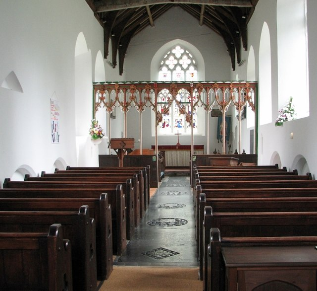 St Mary's church in Swardeston - view east