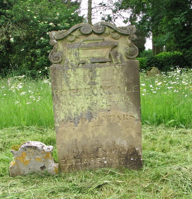 Old gravestone in St Mary's churchyard