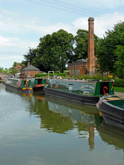 Wharf east of Braunston Locks in Northamptonshire