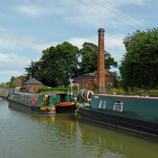 Wharf and pumping house near Braunston, Northamptonshire