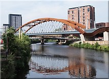 SJ8297 : Ordsall Chord bridge by Steve Houldsworth
