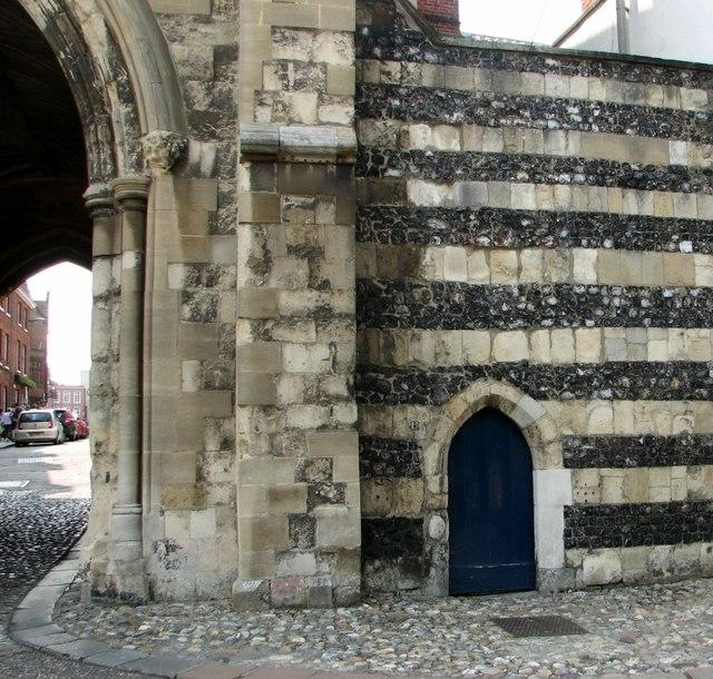 Door into St Ethelbert's Gate chapel