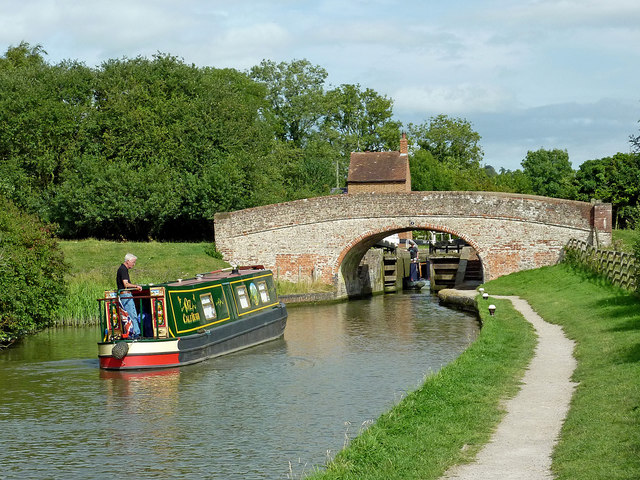 Narrowboat at Braunston Locks, Northamptonshire