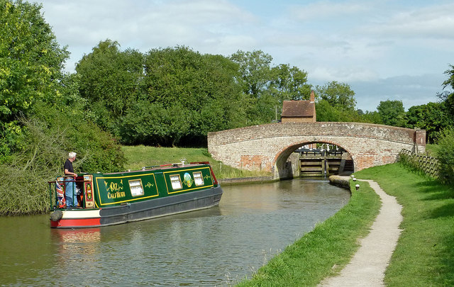 Braunston Locks in Northamptonshire