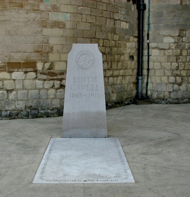 The grave of Edith Cavell