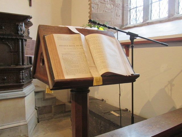 A Bible book view at Orleton Church