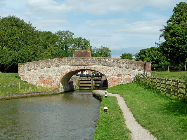 Braunston Lock Bridge in Northamptonshire