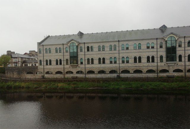 Office building conversion beside River Kent