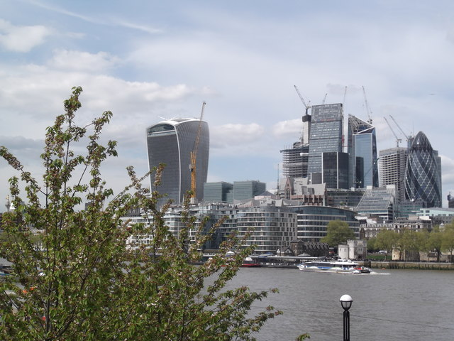 City of London from Tower Bridge