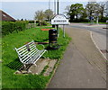 SO8006 : Memorial bench near the Standish boundary sign, Gloucestershire  by Jaggery