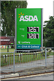 TM1542 : Asda Stoke Park fuel filling station sign by Adrian Cable