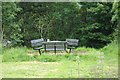 TM1840 : Picnic Table & Seats at Bridge Wood car park by Adrian Cable