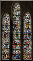 SE9276 : Stained glass window, St Andrew's church, East Heslerton by Julian P Guffogg