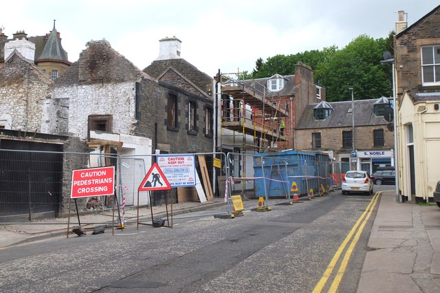 Demolition in progress, Galashiels