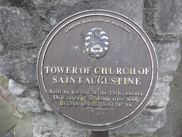 Sign, St Augustine's Tower, Mare Street E5