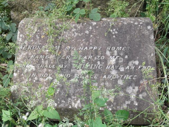 Tombstone, Abney Park Cemetery, Stoke Newington High Street N16