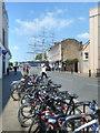 TQ3877 : Bikes near the Cutty Sark by Des Blenkinsopp