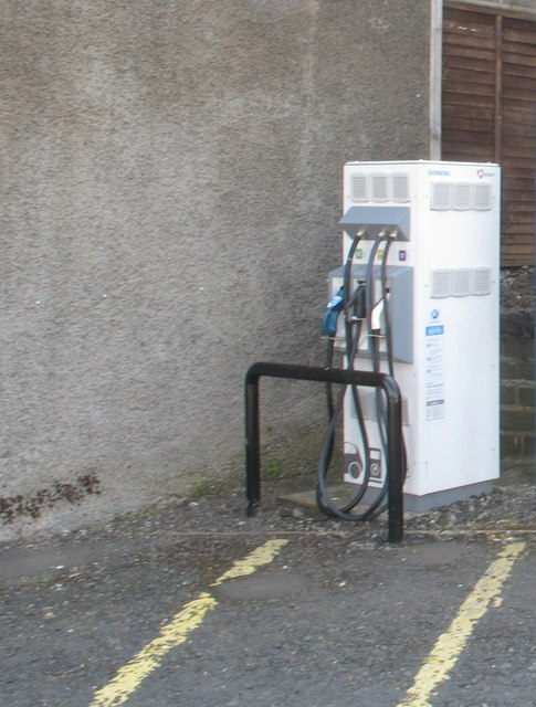 Electric car charging point, Selkirk