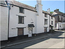 SX2553 : White cottage with old-style doorbell, Fore Street, West Looe by Jaggery