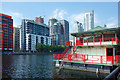 TQ3779 : Red Railings, Milwall Dock by Des Blenkinsopp