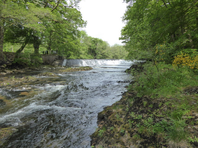 River Dart by Buckfast Abbey