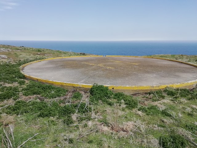 Helipad on the Isle of May