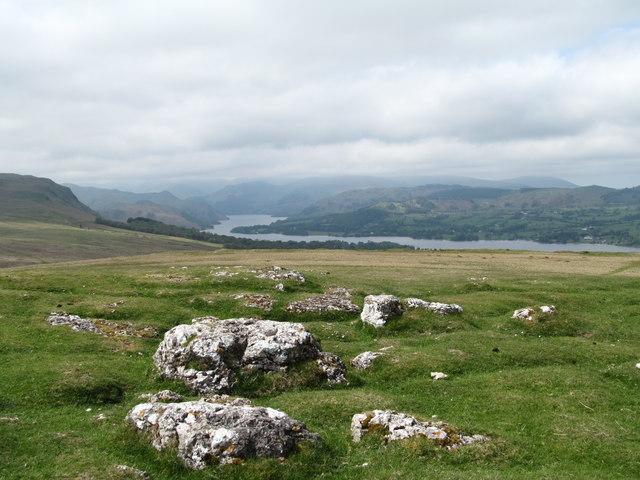 Limestone outcrops, Heughscar Hill