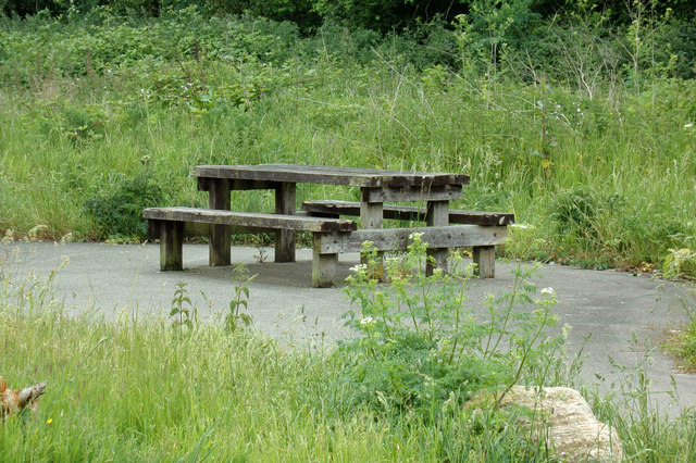 Picnic Table & Seats at Braziers Meadow Car Park