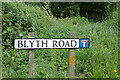 TM3876 : Blyth Road sign by Adrian Cable