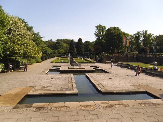 Water garden in Lister Park