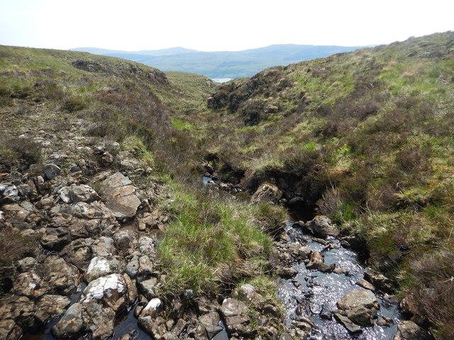 Stream flowing off Giob-Bheinn