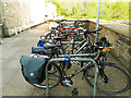 SE2635 : Well used cycle racks at Morrison's by Stephen Craven
