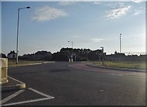 TL2046 : Roundabout on Potton Road, Biggleswade by David Howard