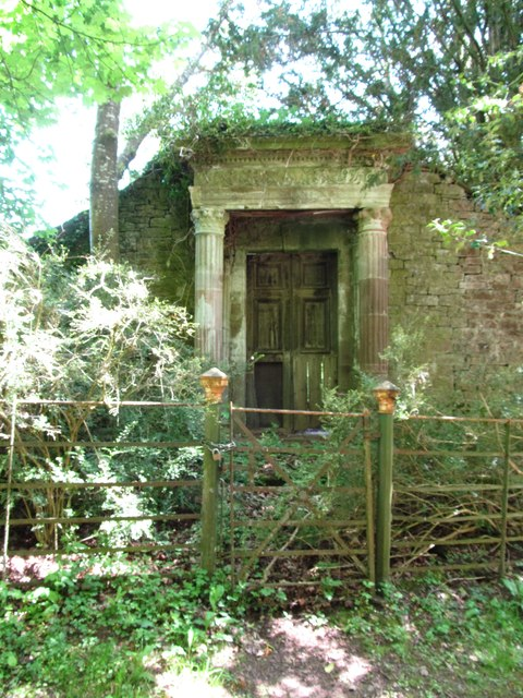 Abandoned doorway, Lowther Castle