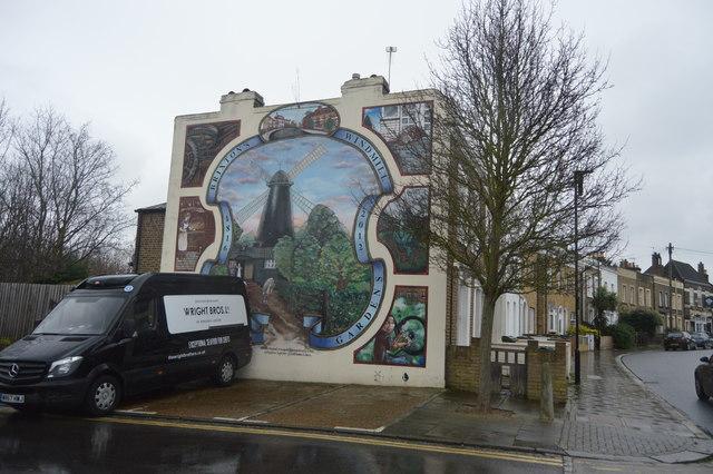 Brixton Windmill Gardens mural