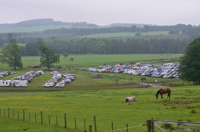 Car parking at Thirlstane Castle