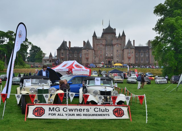 MG cars on show at Thirlstane Castle