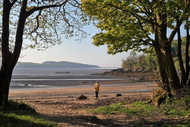 A beach walker at Nun Mill Bay