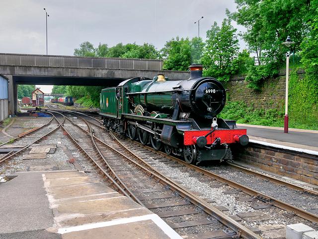6990 'Witherslack Hall' at Bolton Street Station, Bury