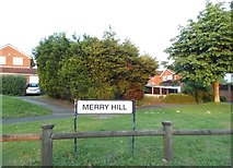 SO9286 : Green verge on Merry Hill by David Howard