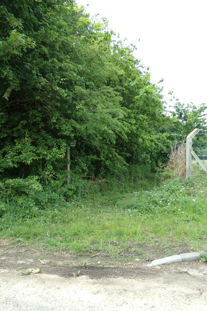 Footpath to the B1117 Walpole Road