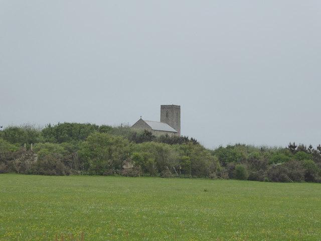 Beeston Regis Church from the Norfolk Coast Path