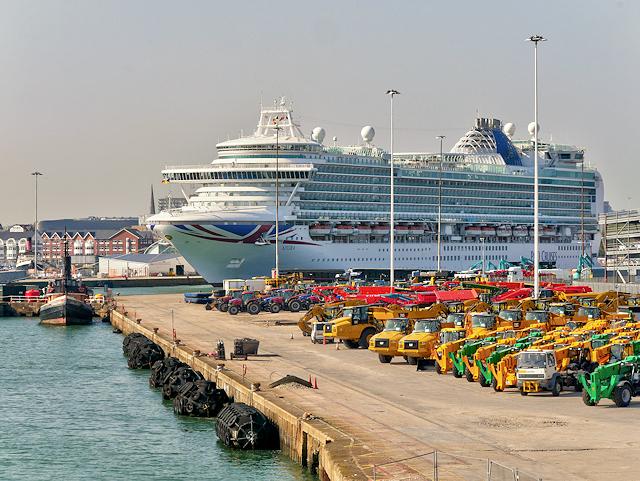 Cruise Ship at Southampton Ocean Terminal