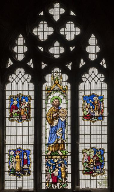 St John the Baptist window, St Mary's church, Scarborough
