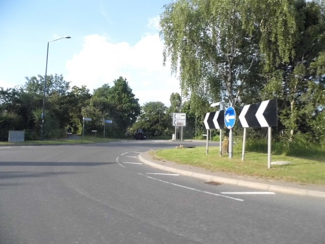 Roundabout on Trinity Way, Stratford on Avon