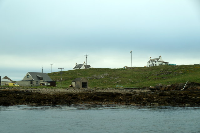 Houses on Bruray, Out Skerries