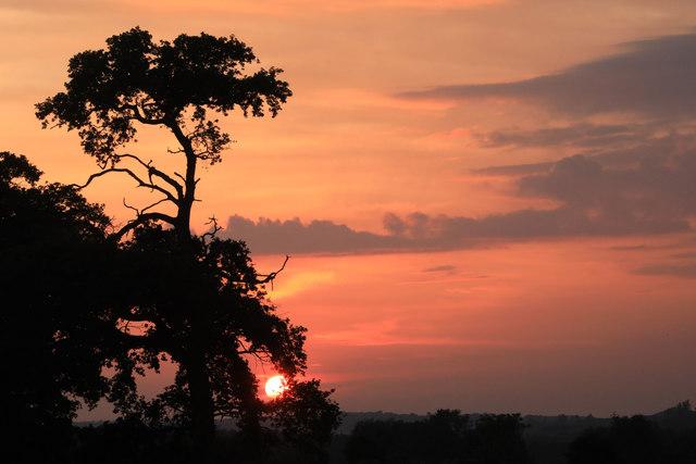 Sunset at Little Saxham