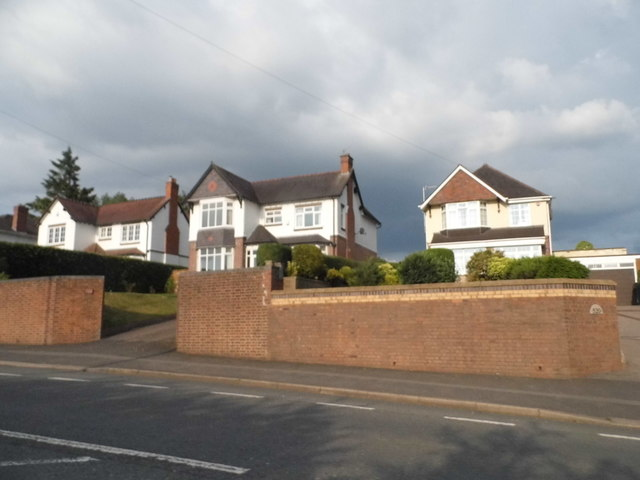 Houses on Birmingham Road, Lower Marlbrook